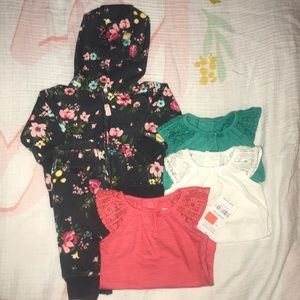 Carter's floral joggers and hoodie set Newborn